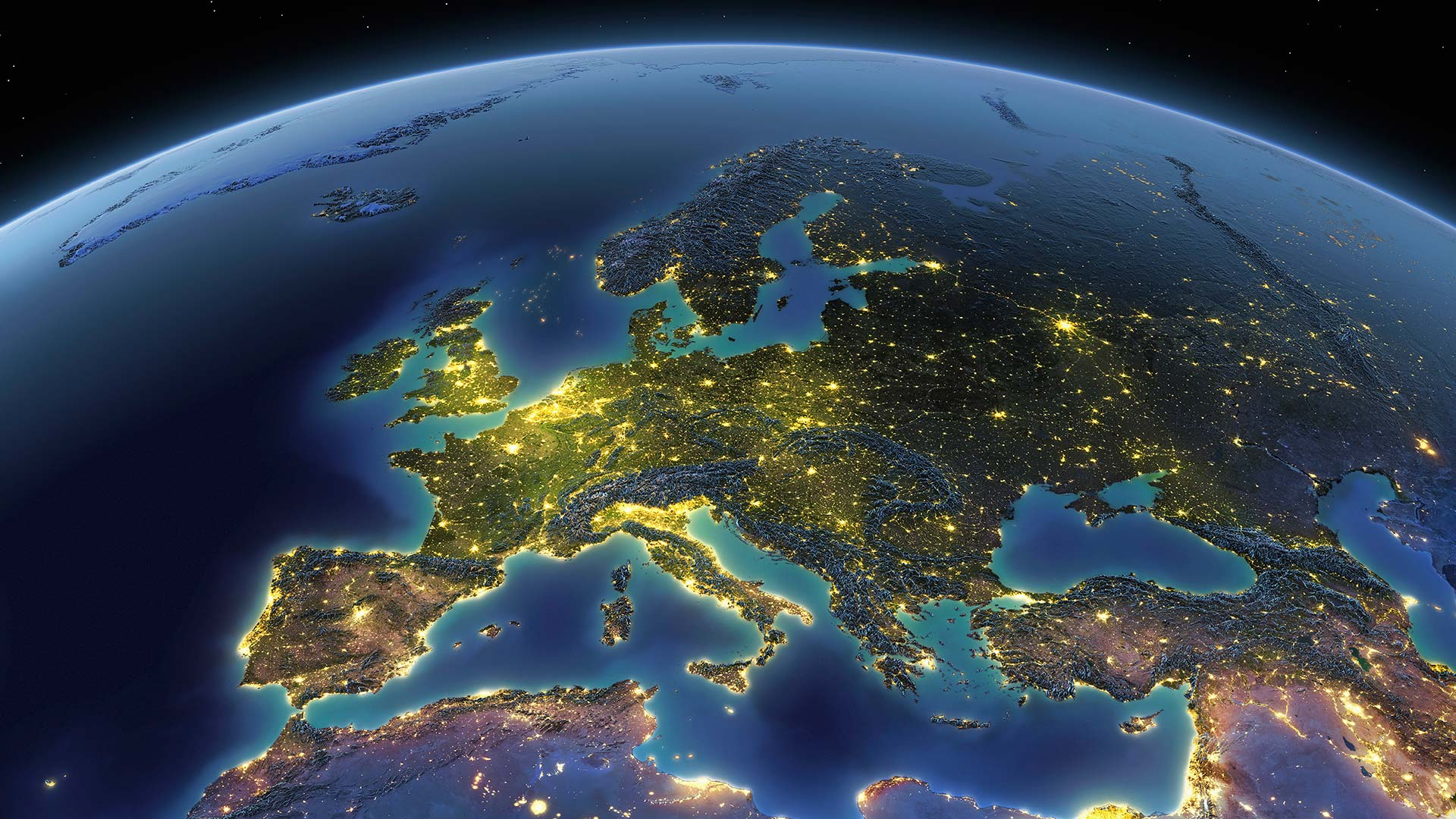 British Ecological Society image of Europe from Space