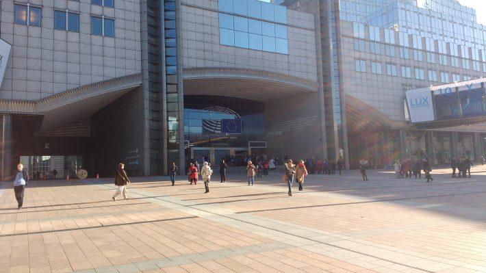Outside the European Parliament
