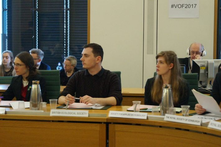 Daniel Leybourne puts his question to Chi Onwurah MP at Voice of the Future 2017