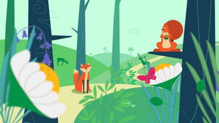 Nature-based solutions: woodland scene