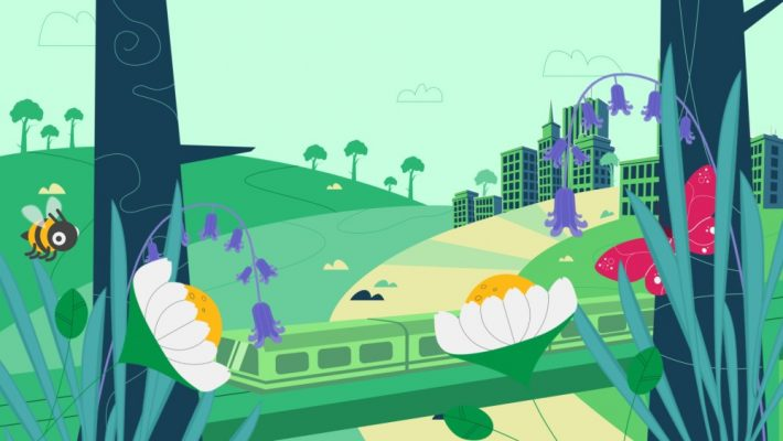 Nature-based solutions: Green city scene