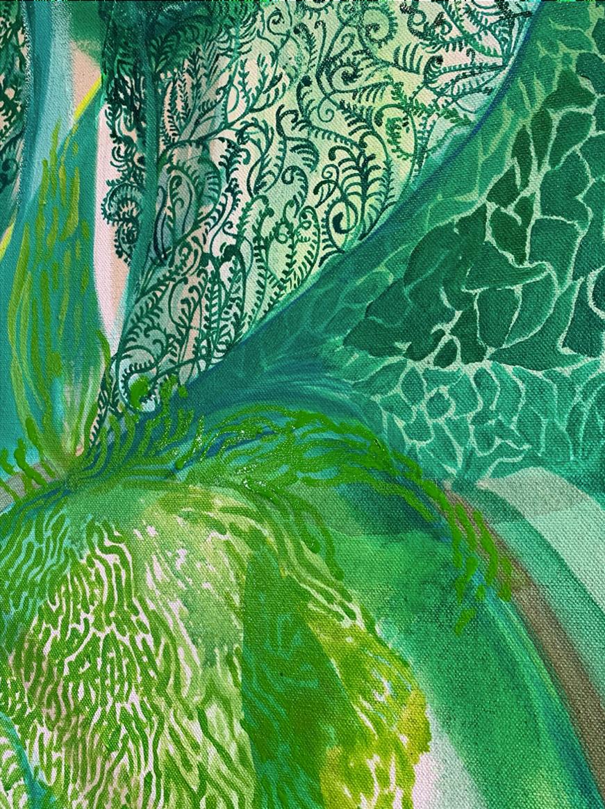 Image of Metamorphosis study in oil