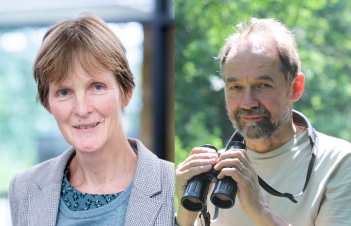 Jane Memmott OBE and Bill Sutherland CBE