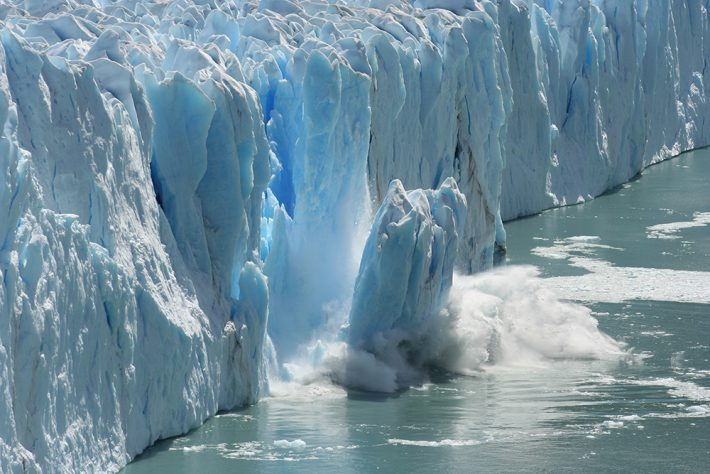 British Ecological Society image of glacier falling