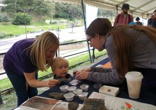 Fossil poo at the Yorkshire Fossil Festival