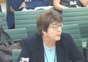 BES President Sue Hartley gives evidence to the Environmental Audit Committee