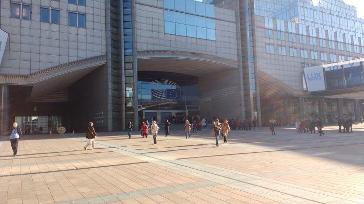 Outside the European Parliament