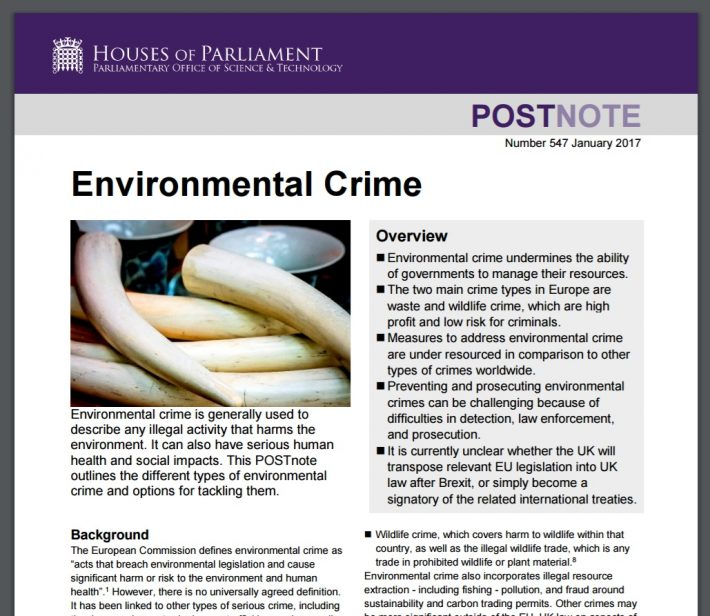 Environmental Crime Postnote