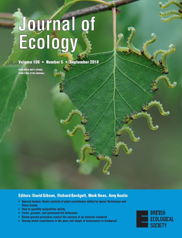Cover of Journal of Ecology