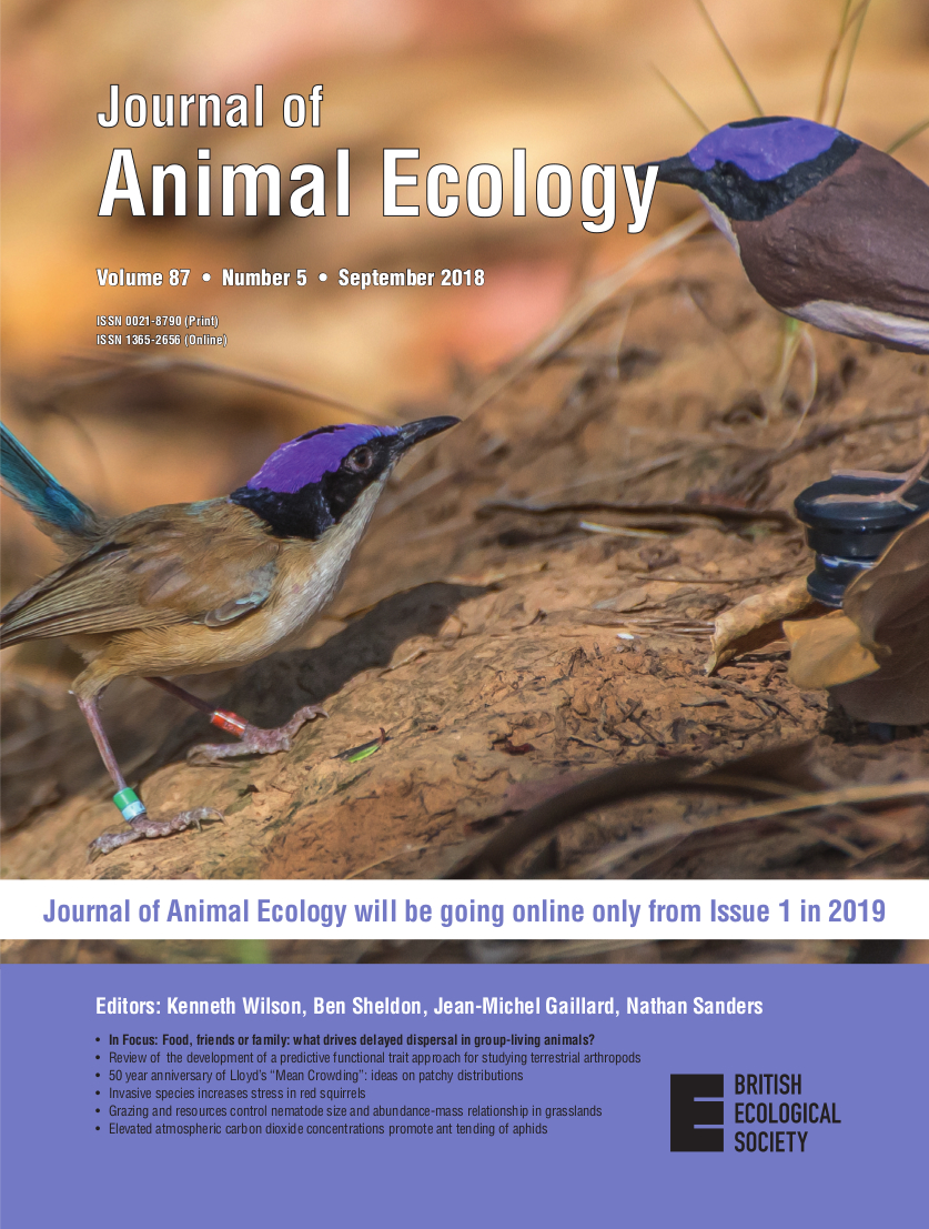 Cover of Journal of Animal Ecology