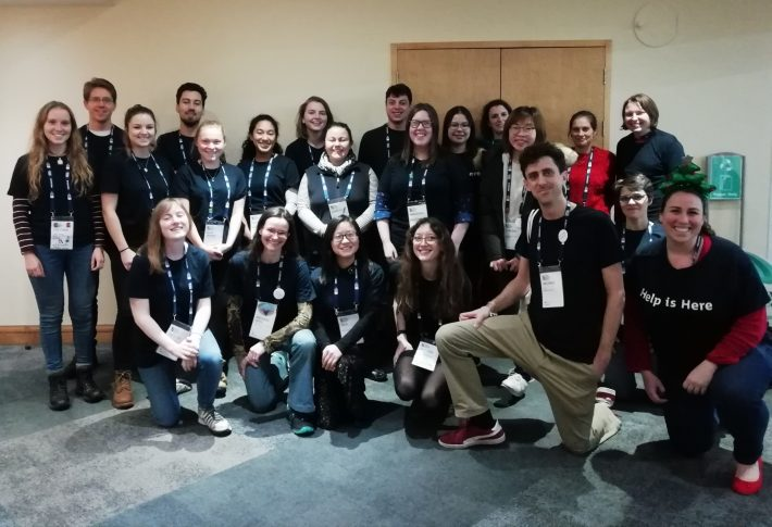 A group photo of the 2018 Annual Meeting Helpers