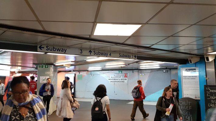 Old street underground exit
