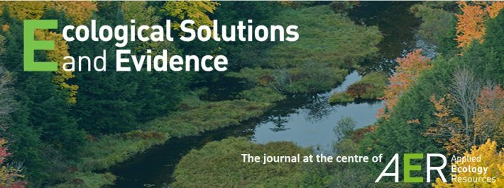 Ecological Solutions and Evidence is the journal at the centre of Applied Ecology Resources.